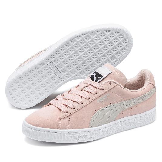Puma 彪马 Suede Classic+ 女子板鞋 烟粉色