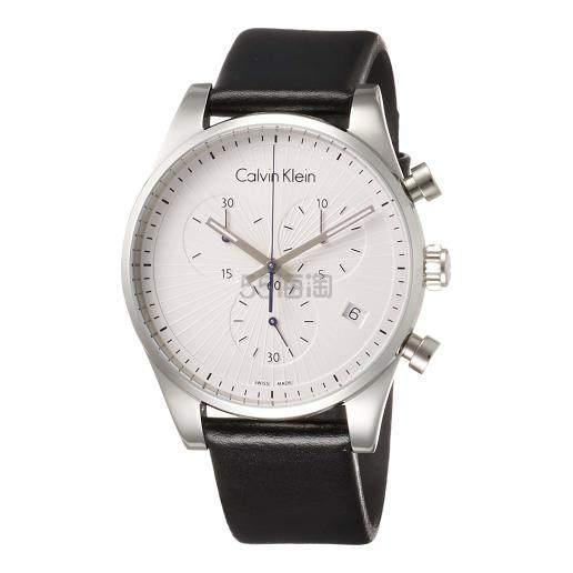 近期低价!Calvin Klein 卡尔文·克莱因 Steadfast 系列 银黑色男士时装腕表 K8S271C6 .99(约416元) - 海淘优惠海淘折扣|55海淘网