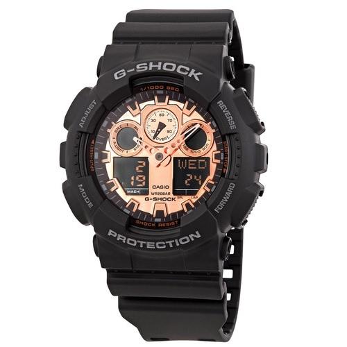 Casio 卡西欧 G-Shock 系列 黑色男士运动腕表 GA-100MMC-1ADR