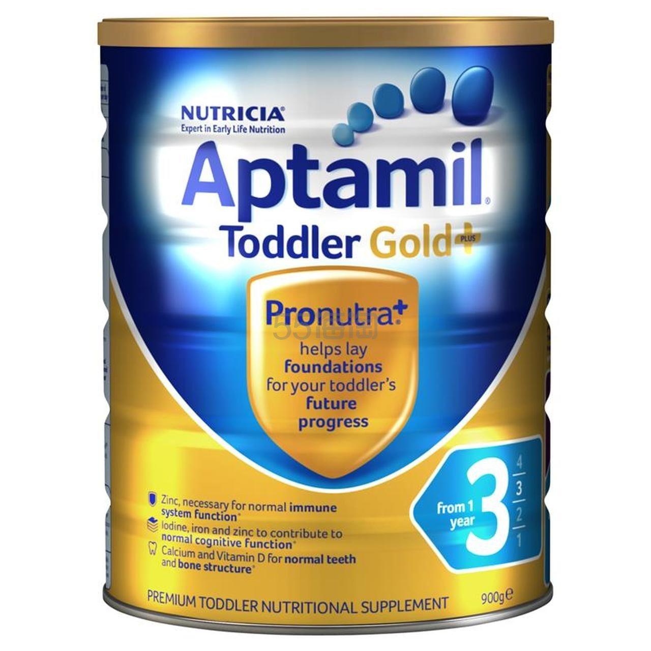 补货!【最高满减10澳】Aptamil 爱他美 婴儿金装奶粉 3段 900g 20.49澳币(约93元) - 海淘优惠海淘折扣|55海淘网