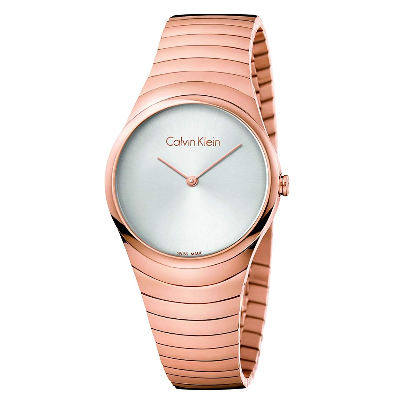 Calvin Klein 卡尔文克莱恩 女士玫瑰金简约石英腕表 K8A23646