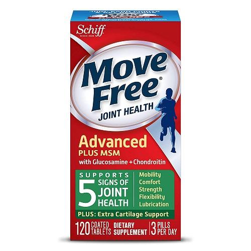 3件9.5折!Schiff Move Free 维骨力氨基酸软骨素片 添加MSM 120粒