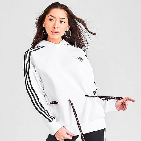 adidas Originals 三叶草 V-Day 女子抽绳连帽卫衣