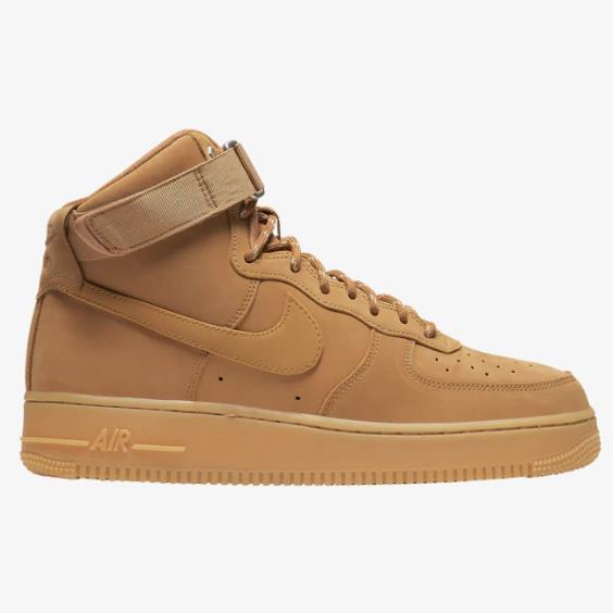 Nike 耐克 Air Force 1 男子高帮板鞋 小麦色