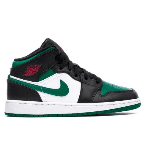 乔丹 Air Jordan 1 大童款篮球鞋 Pine Green 黑绿脚趾