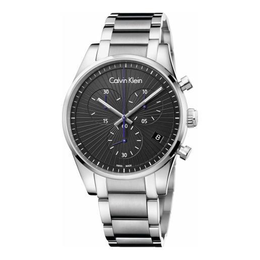 小降!Calvin Klein 卡尔文·克莱因 Steadfast 系列 银黑色男士气质腕表 K8S27141