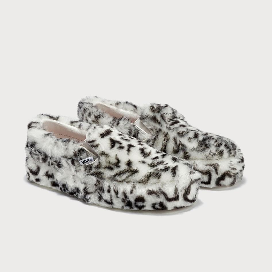 Sandy Liang X Vans 联名 动物纹毛毛厚底鞋