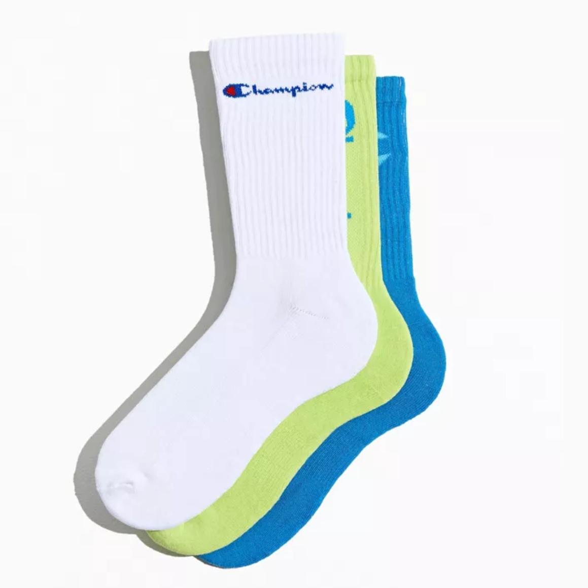 Champion 冠军 Core Essential Crew Sock 3双装中筒袜