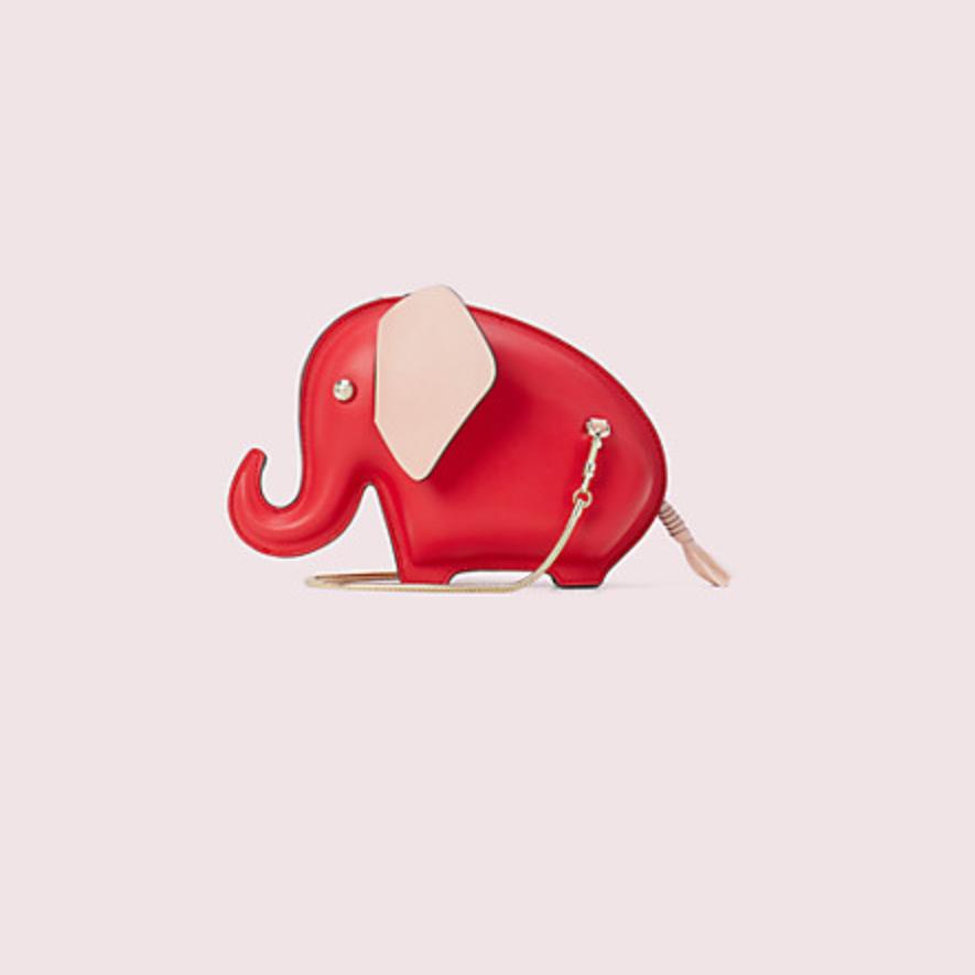 kate spade tiny 红色大象斜挎包