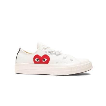 可以预定~COMME DES GARCONS PLAY 白色爱心帆布鞋