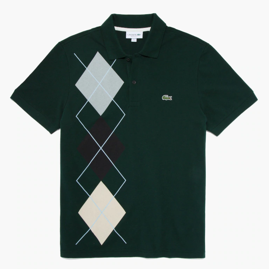 Lacoste 法国鳄鱼 Regular Fit Jacquard Polo衫