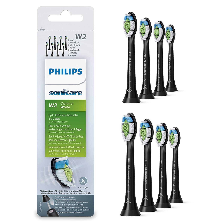 即将结束!Philips 飞利浦 HX6068/13 钻石清洁黑色电动牙刷替换刷头8支装