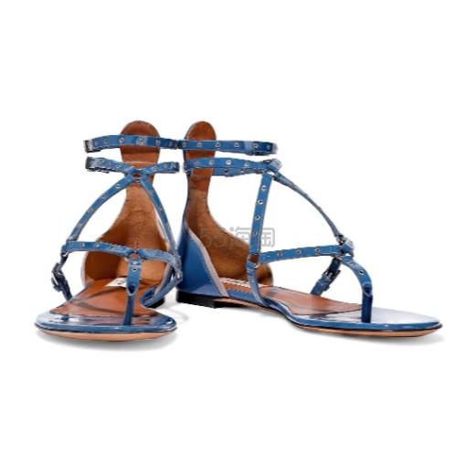 Valentino Garavani Love Latch 铆钉漆皮凉鞋 4.4(约1,487元) - 海淘优惠海淘折扣|55海淘网