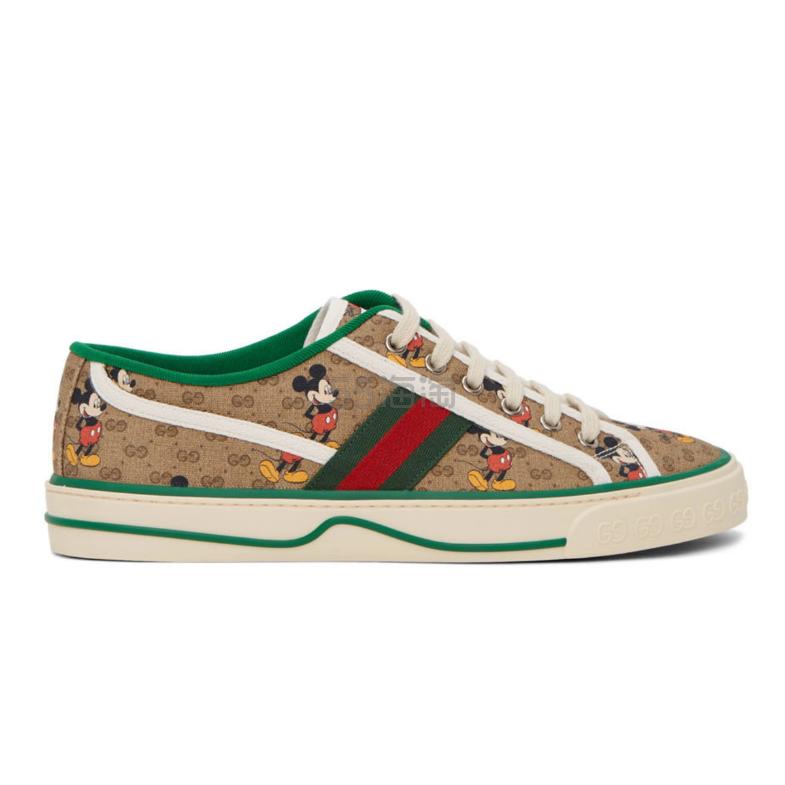 Gucci 棕色 Disney 联名 GG Tennis 1977 运动鞋 0(约4,922元) - 海淘优惠海淘折扣|55海淘网