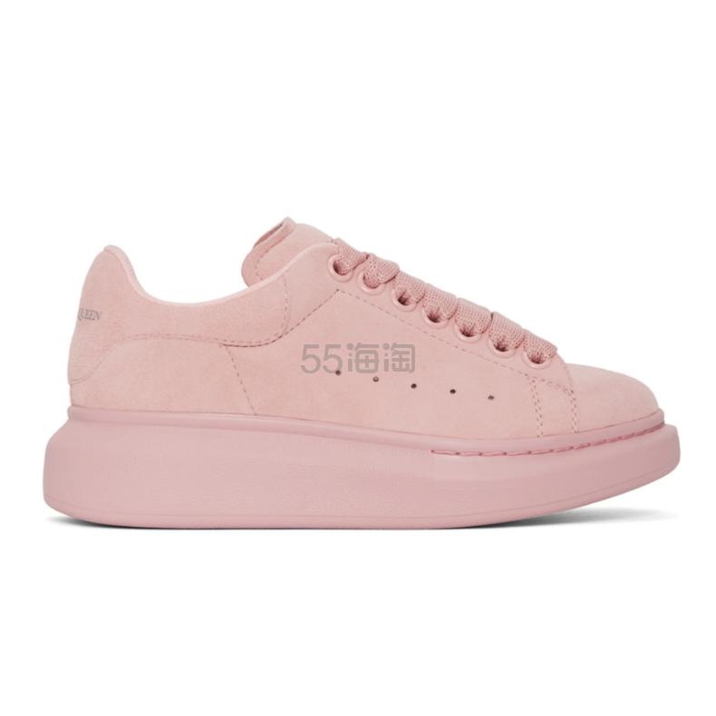 上新!Alexander McQueen 粉色绒面革阔型运动鞋 0(约3,448元) - 海淘优惠海淘折扣 55海淘网