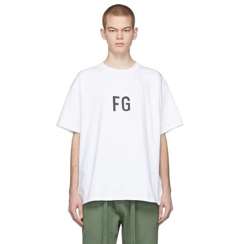 Fear of God White FG 男士 T-Shirt
