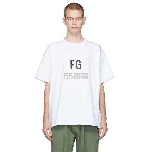 Fear of God White FG 男士 T-Shirt 168(约1,180元) - 海淘优惠海淘折扣|55海淘网
