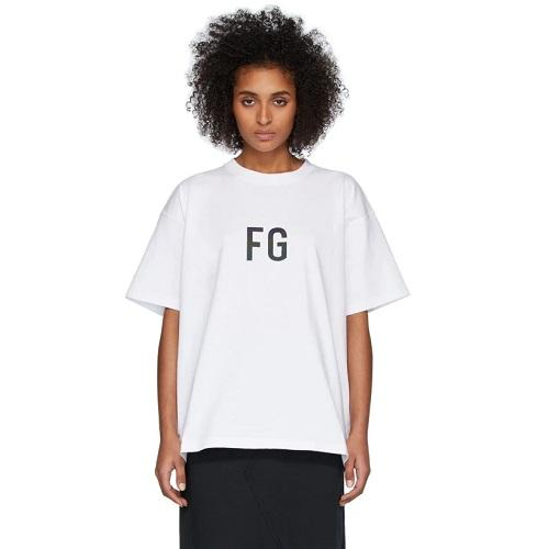 Fear of God 白色 'FG' logo T恤