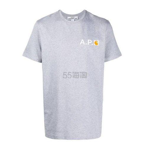 A.P.C. logo男士短袖T恤 ¥563.4 - 海淘优惠海淘折扣|55海淘网