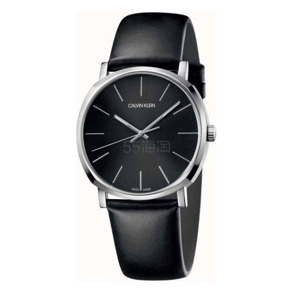 Calvin Klein 卡尔文·克莱因 Posh 系列 银黑色男士时装腕表 K8Q311C1 .99(约238元) - 海淘优惠海淘折扣|55海淘网
