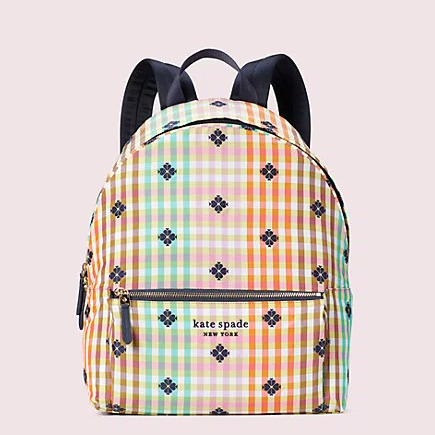 kate spade 美国官网 the bella plaid city pack 双肩包