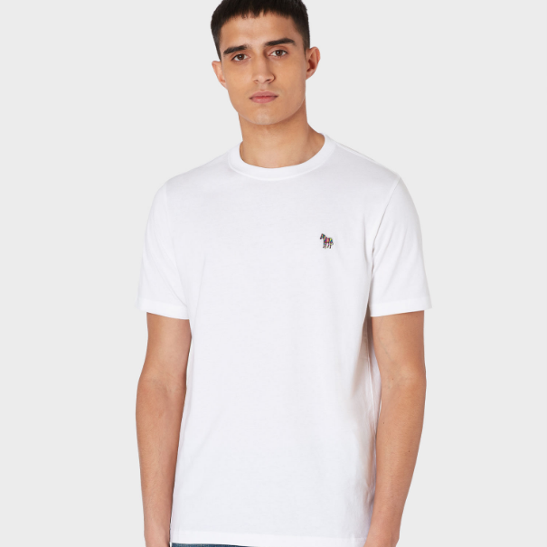 Paul Smith White Organic-Cotton Zebra Logo T恤