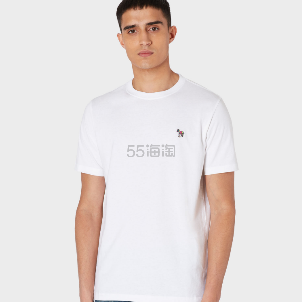 Paul Smith White Organic-Cotton Zebra Logo T恤 £38.25(约316元) - 海淘优惠海淘折扣|55海淘网