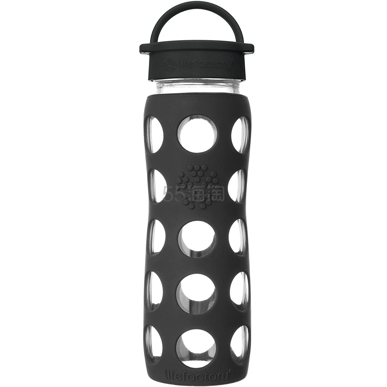 《安家》房似锦同款!【中亚Prime会员】Lifefactory 时尚翻转盖成人玻璃水杯 650ml 黑玛瑙色