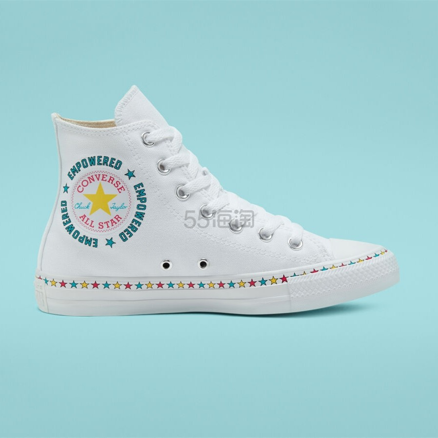 Converse 匡威 All Star 白色高帮鞋 .38(约207元) - 海淘优惠海淘折扣|55海淘网