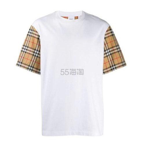 BURBERRY 格纹衣袖T恤 港币2,500(约2,281元) - 海淘优惠海淘折扣 55海淘网