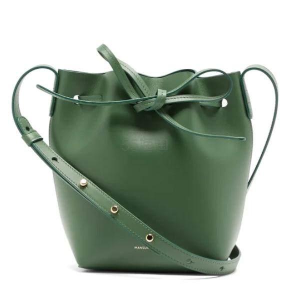 MANSUR GAVRIEL Mini Mini 绿色水桶包 €292.8(约2,314元) - 海淘优惠海淘折扣 55海淘网