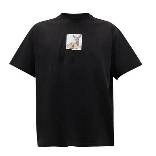 BURBERRY Deer-print 黑色T恤衫