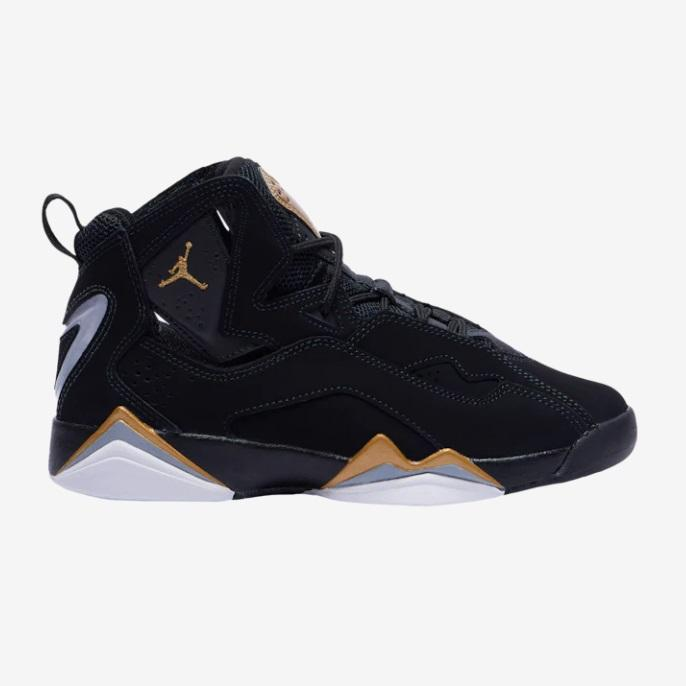 Jordan 乔丹 True Flight 黑金配色大童款篮球鞋