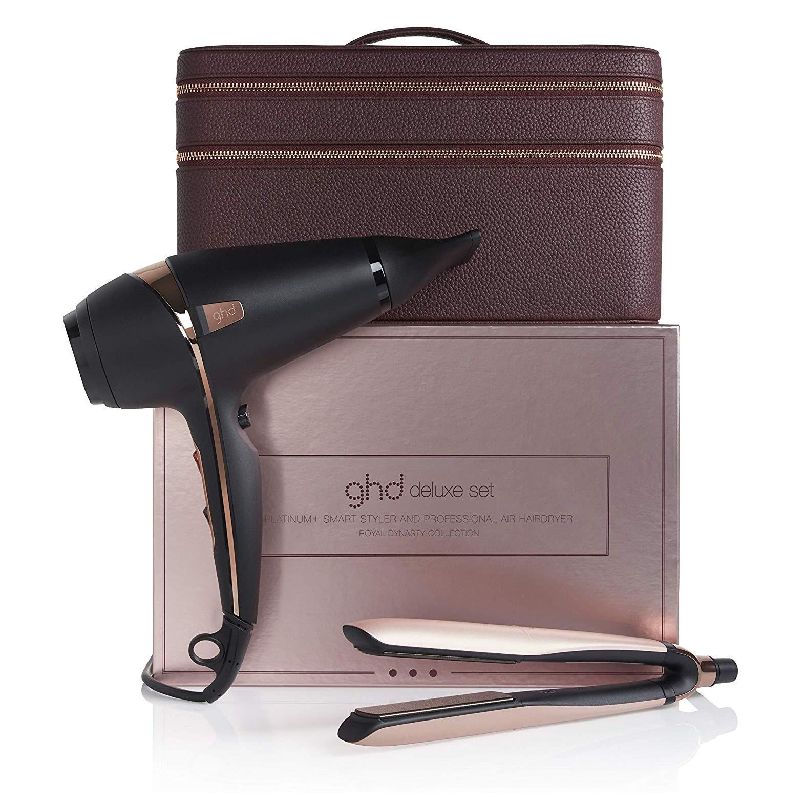 GHD Platinum+ 限量玫瑰金色电吹风机+直板夹套装