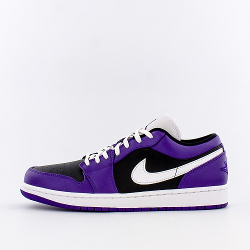 【新款码全】Jordan 乔丹 1 Low Black/Purple 低帮男士板鞋 黑紫配色
