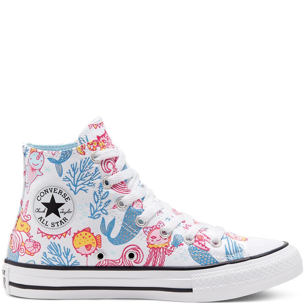 Converse 匡威 All Star 海底派对白色高帮鞋