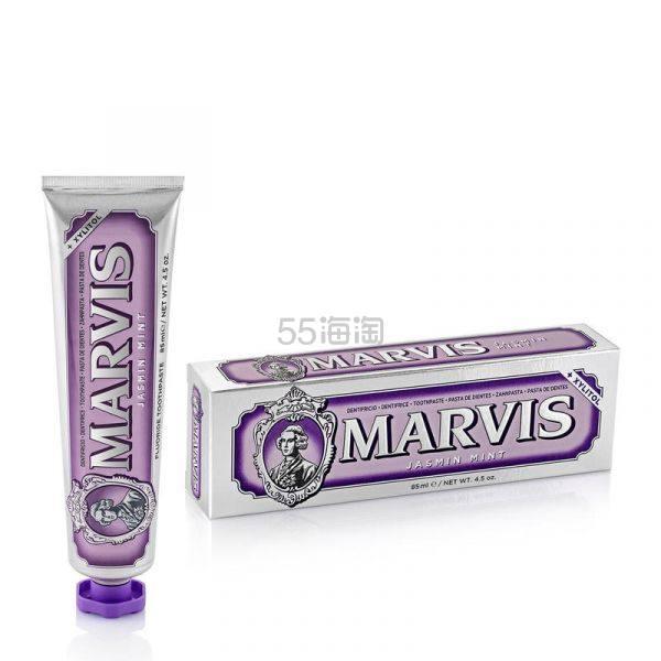 【7折】MARVIS 茉莉花薄荷洁齿牙膏 85ml 清新口气 £5.25(约46元) - 海淘优惠海淘折扣|55海淘网