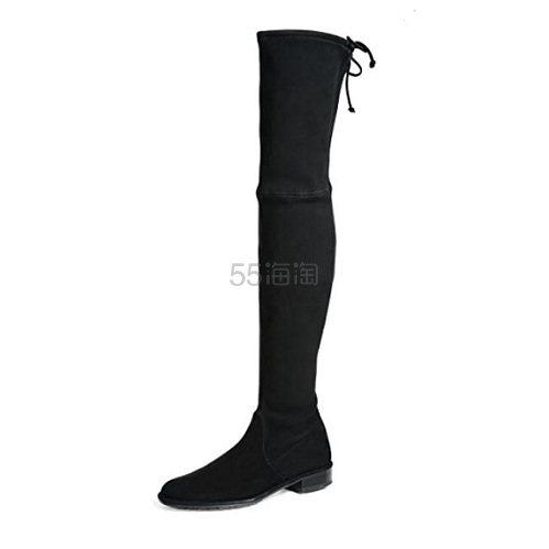 Stuart Weitzman Lowland 黑色过膝靴 1.22(约4,577元) - 海淘优惠海淘折扣|55海淘网