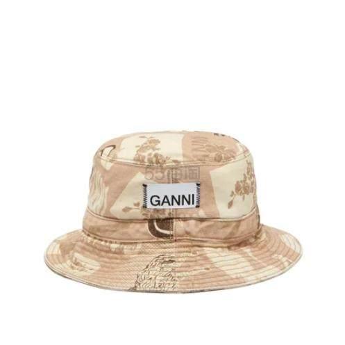 GANNI 印花渔夫帽 €92.8(约726元) - 海淘优惠海淘折扣|55海淘网