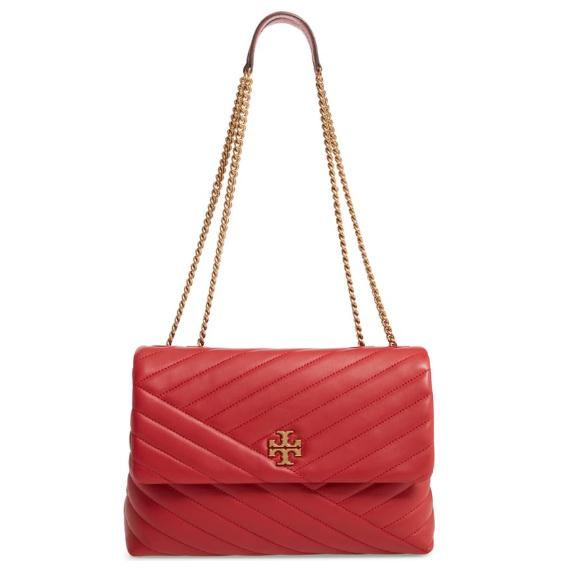 TORY BURCH Kira Chevron 红色真皮包包