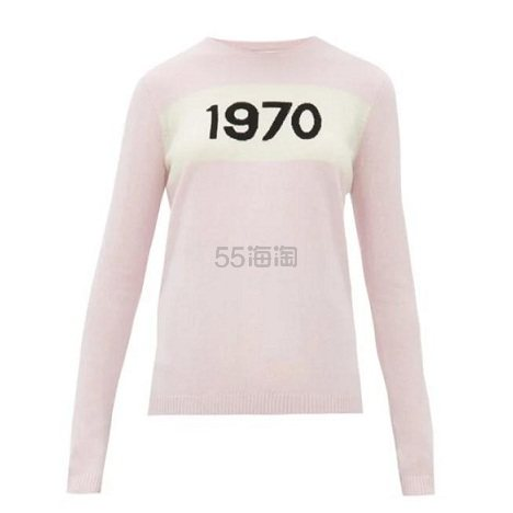 BELLA FREUD 1970-intarsia 羊绒毛衣 €304(约2,379元) - 海淘优惠海淘折扣|55海淘网