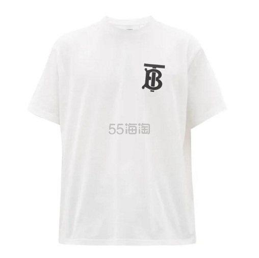 BURBERRY Emerson 男士白色T恤衫 €240(约1,878元) - 海淘优惠海淘折扣|55海淘网