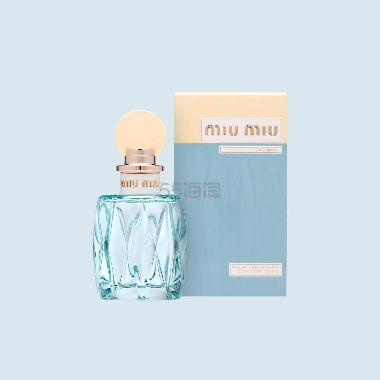 【直邮包税】Miu Miu LEau Bleue 蓝色之水春日花园女士淡香水 100ml .99(约492元) - 海淘优惠海淘折扣|55海淘网