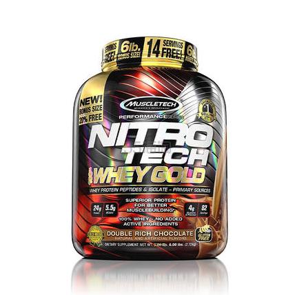 MuscleTech 肌肉科技 Nitro Tech 健身增肌能量100%蛋白粉 乳清蛋白 巧克力味 5磅 ¥488 - 海淘优惠海淘折扣|55海淘网
