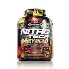 MuscleTech 肌肉科技 Nitro Tech 健身增肌能量100%蛋白粉 乳清蛋白 巧克力味 5磅