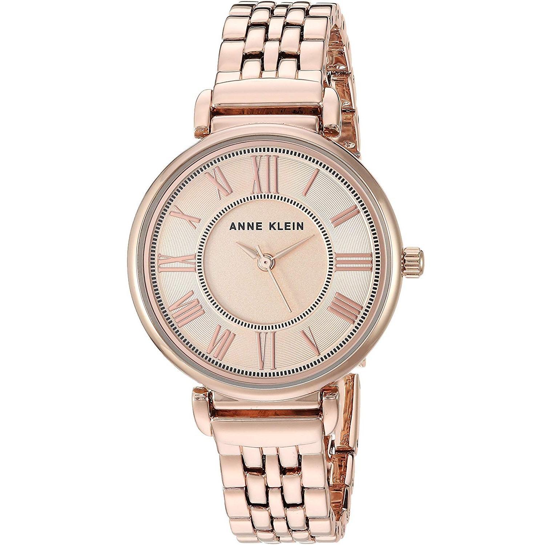 Anne Klein 安妮克莱因 AK/2158RGRG 女士玫瑰金色时装腕表