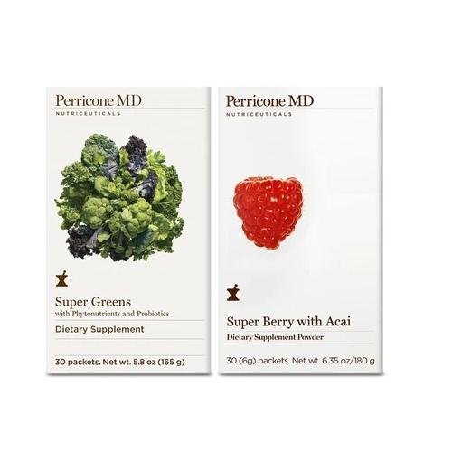 Perricone MD 裴礼康 超级浆果与巴西莓粉+超级绿蔬补剂 30天量