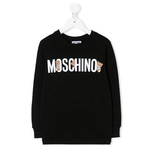 MOSCHINO KIDS logo泰迪熊印花套头衫