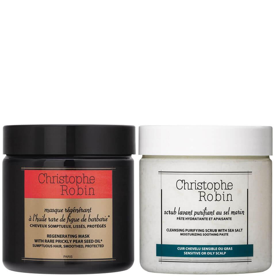 Christophe Robin 海盐舒缓洗发膏+刺梨发膜套装 250ml×2