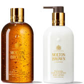 Molton Brown 摩顿布朗 沉香金箔沐浴露+身体乳套装 300ml*2